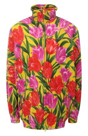 Женская куртка BALENCIAGA желтого цвета, арт. 678409/TLLB5 | Фото 1 (Рукава: Длинные; Материал подклада: Синтетический материал; Материал внешний: Синтетический материал; Длина (верхняя одежда): До середины бедра; Кросс-КТ: Куртка; Стили: Спорт-шик)