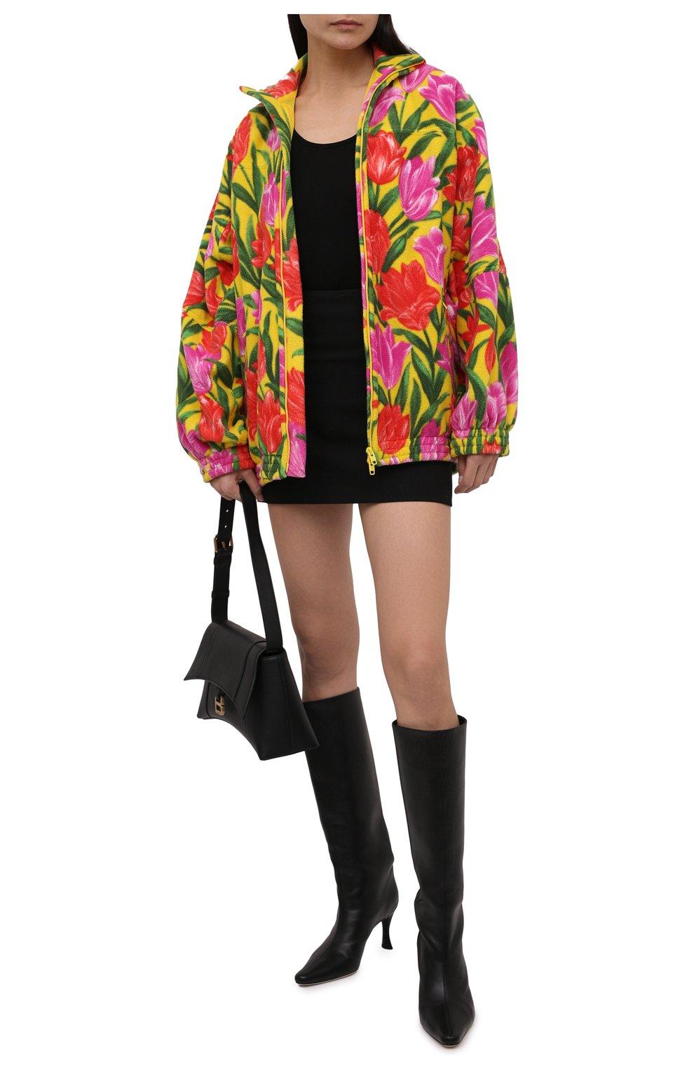 Женская куртка BALENCIAGA желтого цвета, арт. 678409/TLLB5 | Фото 2 (Кросс-КТ: Куртка; Рукава: Длинные; Длина (верхняя одежда): До середины бедра; Материал внешний: Синтетический материал; Стили: Спорт-шик; Материал подклада: Синтетический материал)