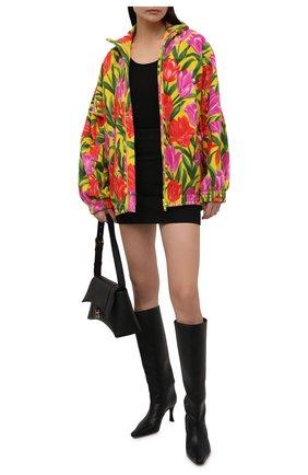 Женская куртка BALENCIAGA желтого цвета, арт. 678409/TLLB5 | Фото 2 (Рукава: Длинные; Материал подклада: Синтетический материал; Материал внешний: Синтетический материал; Длина (верхняя одежда): До середины бедра; Кросс-КТ: Куртка; Стили: Спорт-шик)