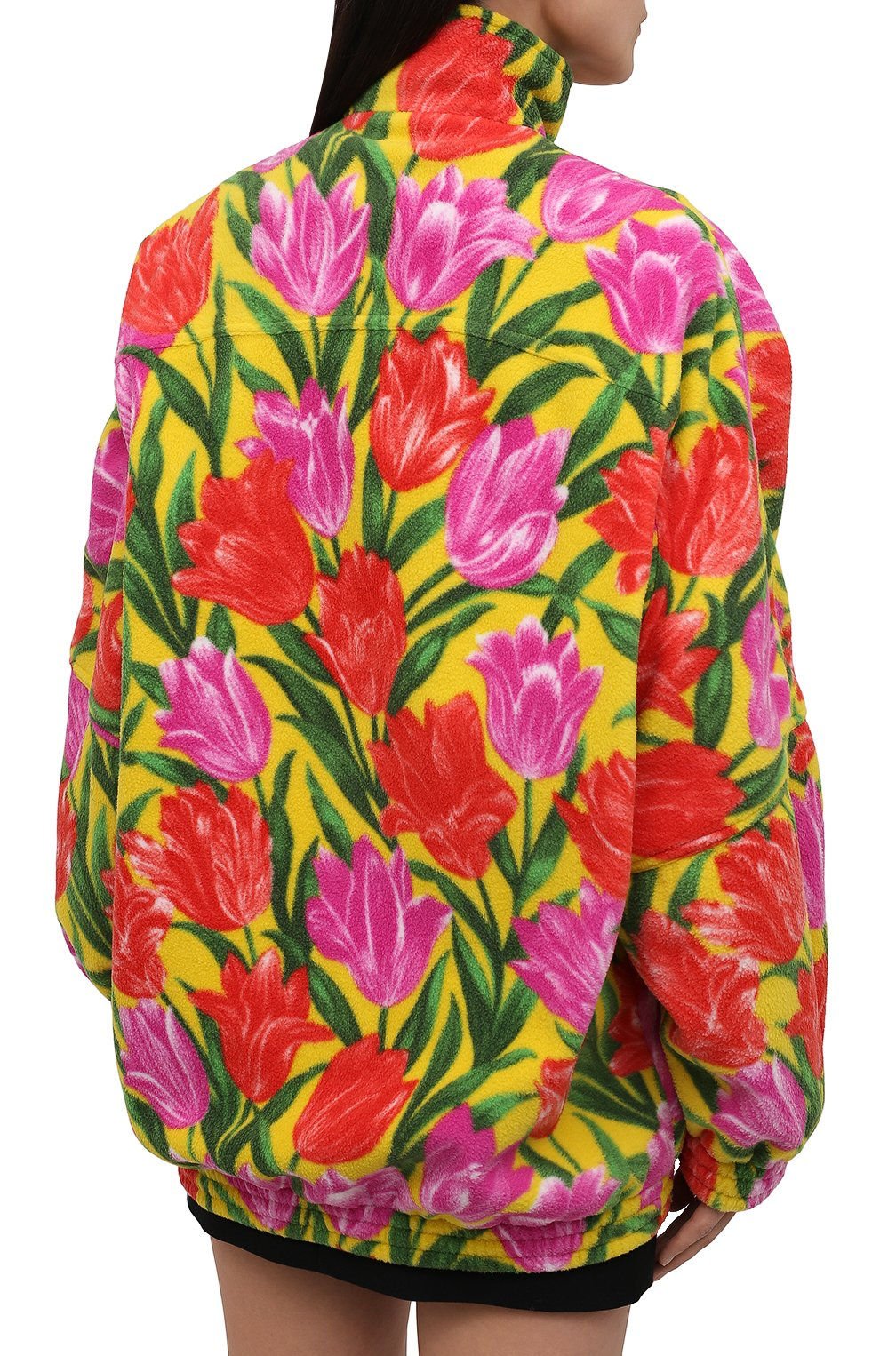 Женская куртка BALENCIAGA желтого цвета, арт. 678409/TLLB5 | Фото 4 (Кросс-КТ: Куртка; Рукава: Длинные; Длина (верхняя одежда): До середины бедра; Материал внешний: Синтетический материал; Стили: Спорт-шик; Материал подклада: Синтетический материал)