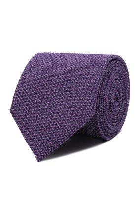 Мужской галстук из шелка и хлопка VAN LAACK фиолетового цвета, арт. LUIS-EL/K04212   Фото 1 (Материал: Хлопок, Шелк, Текстиль; Принт: С принтом)
