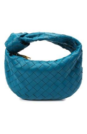 Женская сумка jodie mini BOTTEGA VENETA бирюзового цвета, арт. 651876/VCPP5   Фото 1 (Материал: Натуральная кожа; Сумки-технические: Сумки top-handle; Размер: mini)