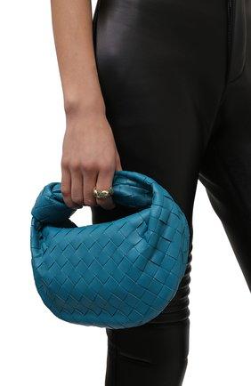 Женская сумка jodie mini BOTTEGA VENETA бирюзового цвета, арт. 651876/VCPP5   Фото 2 (Материал: Натуральная кожа; Сумки-технические: Сумки top-handle; Размер: mini)