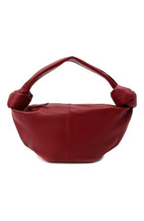 Женская сумка double knot mini BOTTEGA VENETA бордового цвета, арт. 629635/VCP41   Фото 1 (Материал: Натуральная кожа; Сумки-технические: Сумки top-handle; Размер: mini)