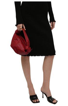 Женская сумка double knot mini BOTTEGA VENETA бордового цвета, арт. 629635/VCP41   Фото 2 (Материал: Натуральная кожа; Сумки-технические: Сумки top-handle; Размер: mini)