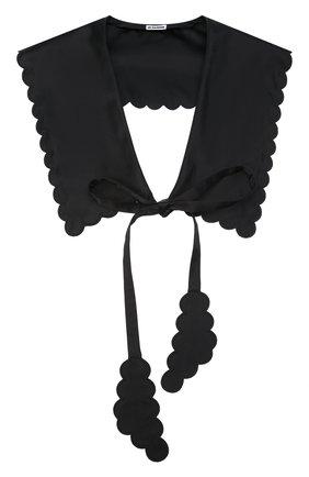 Женский воротник JIL SANDER черного цвета, арт. JSWT595080-WT37030L   Фото 1 (Материал: Текстиль)