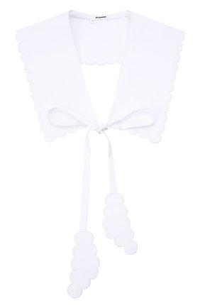 Женский хлопковый воротник JIL SANDER белого цвета, арт. JSWT595180-WT244200   Фото 1 (Материал: Текстиль, Хлопок)