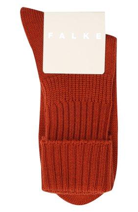 Женские шерстяные носки FALKE коричневого цвета, арт. 47520 | Фото 1 (Материал внешний: Шерсть, Синтетический материал)