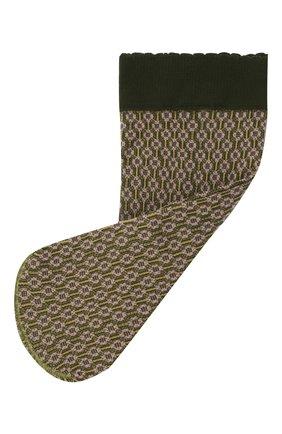 Женские носки FALKE зеленого цвета, арт. 41448 | Фото 1 (Материал внешний: Синтетический материал)