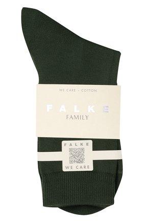 Женские хлопковые носки FALKE зеленого цвета, арт. 46490 | Фото 1 (Материал внешний: Хлопок)