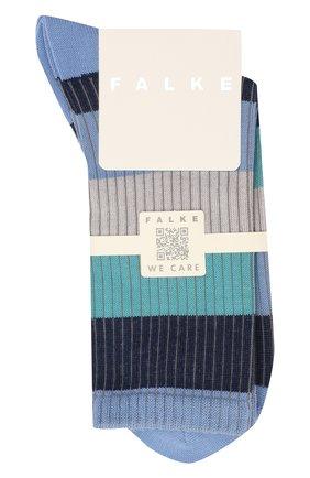 Женские хлопковые носки FALKE синего цвета, арт. 46427 | Фото 1 (Материал внешний: Хлопок)