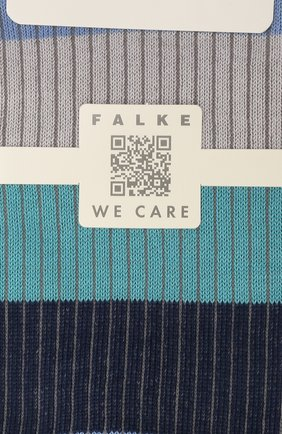 Женские хлопковые носки FALKE синего цвета, арт. 46427 | Фото 2 (Материал внешний: Хлопок)