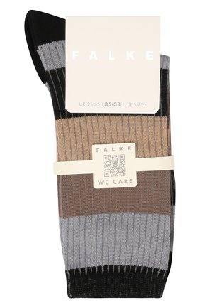 Женские хлопковые носки FALKE черного цвета, арт. 46427 | Фото 1 (Материал внешний: Хлопок)