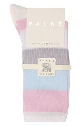 Женские хлопковые носки FALKE белого цвета, арт. 46427 | Фото 1 (Материал внешний: Хлопок)