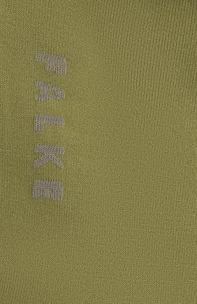 Женские носки FALKE светло-зеленого цвета, арт. 47673 | Фото 2 (Материал внешний: Синтетический материал, Хлопок)