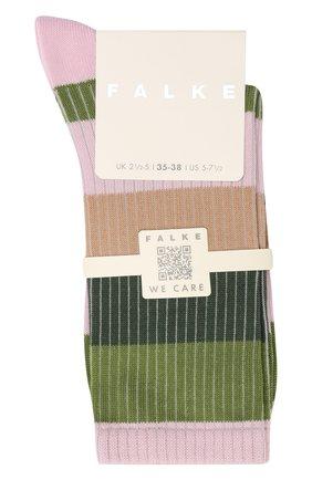 Женские хлопковые носки FALKE зеленого цвета, арт. 46427 | Фото 1 (Материал внешний: Хлопок)