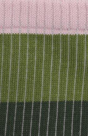 Женские хлопковые носки FALKE зеленого цвета, арт. 46427 | Фото 2 (Материал внешний: Хлопок)