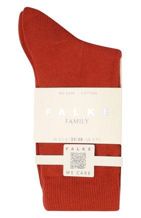 Женские хлопковые носки FALKE коричневого цвета, арт. 46490 | Фото 1 (Материал внешний: Хлопок)