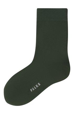 Женские носки FALKE зеленого цвета, арт. 47673 | Фото 1 (Материал внешний: Синтетический материал, Хлопок)