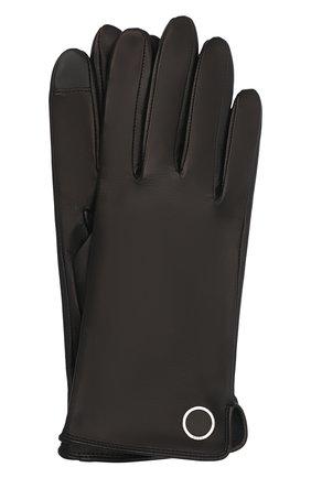 Женские кожаные перчатки BOSS черного цвета, арт. 50458036   Фото 1