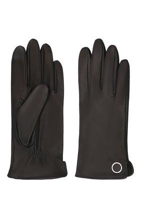 Женские кожаные перчатки BOSS черного цвета, арт. 50458036   Фото 2