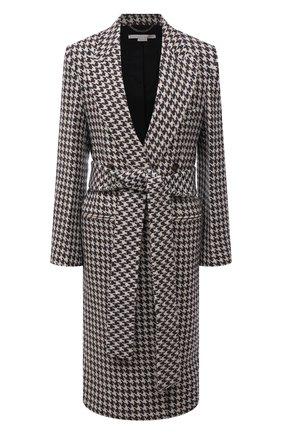 Женское шерстяное пальто STELLA MCCARTNEY черно-белого цвета, арт. 603883/SSB24 | Фото 1 (Длина (верхняя одежда): Длинные; Материал внешний: Шерсть; Рукава: Длинные; Материал подклада: Вискоза; 1-2-бортные: Однобортные; Стили: Гламурный)