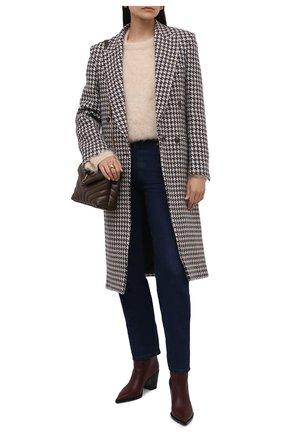 Женское шерстяное пальто STELLA MCCARTNEY черно-белого цвета, арт. 603883/SSB24 | Фото 2 (Длина (верхняя одежда): Длинные; Материал внешний: Шерсть; Рукава: Длинные; Материал подклада: Вискоза; 1-2-бортные: Однобортные; Стили: Гламурный)