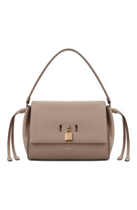 Женская сумка padlock medium TOM FORD бежевого цвета, арт. L1500T-LCL095   Фото 1 (Материал: Натуральная кожа; Сумки-технические: Сумки top-handle; Размер: medium; Ошибки технического описания: Нет ширины)