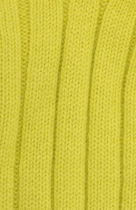 Женские кашемировые носки BOTTEGA VENETA желтого цвета, арт. 670179/V0900   Фото 2 (Материал внешний: Кашемир, Шерсть)