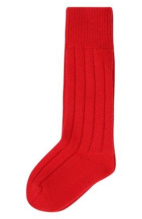 Женские кашемировые носки BOTTEGA VENETA красного цвета, арт. 670179/V0900   Фото 1 (Материал внешний: Кашемир, Шерсть)