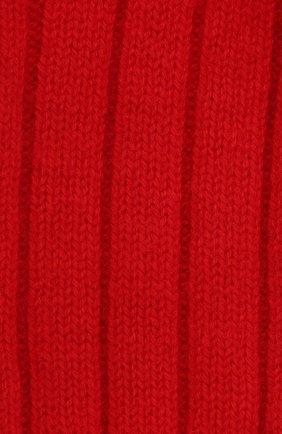 Женские кашемировые носки BOTTEGA VENETA красного цвета, арт. 670179/V0900   Фото 2 (Материал внешний: Кашемир, Шерсть)