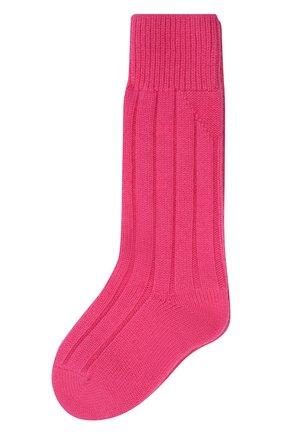 Женские кашемировые носки BOTTEGA VENETA розового цвета, арт. 670179/V0900   Фото 1 (Материал внешний: Кашемир, Шерсть)