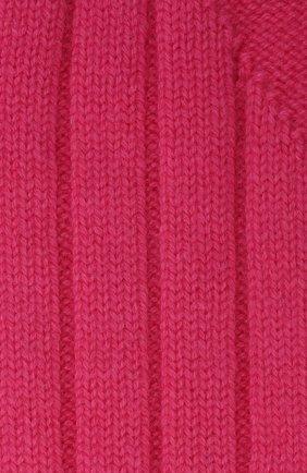 Женские кашемировые носки BOTTEGA VENETA розового цвета, арт. 670179/V0900   Фото 2 (Материал внешний: Кашемир, Шерсть)