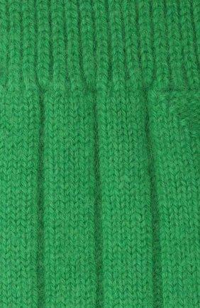 Женские кашемировые носки BOTTEGA VENETA зеленого цвета, арт. 670179/V0900   Фото 2 (Материал внешний: Кашемир, Шерсть)