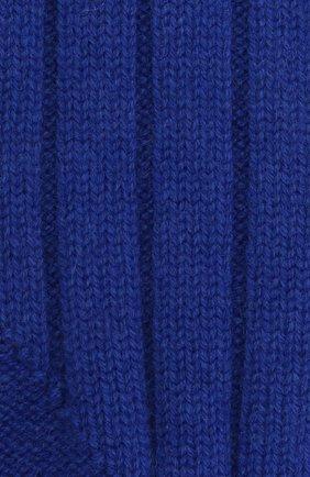 Женские кашемировые носки BOTTEGA VENETA синего цвета, арт. 670179/V0900   Фото 2 (Материал внешний: Кашемир, Шерсть)