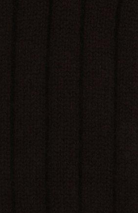 Женские кашемировые носки BOTTEGA VENETA темно-коричневого цвета, арт. 670179/V0900   Фото 2 (Материал внешний: Шерсть, Кашемир)