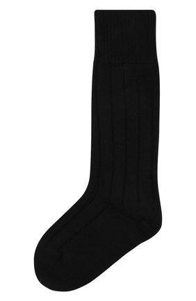 Женские кашемировые носки BOTTEGA VENETA черного цвета, арт. 670179/V0900   Фото 1 (Материал внешний: Шерсть, Кашемир)