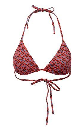 Женский треугольный бра VERSACE красного цвета, арт. 1001406/1A01663 | Фото 1 (Материал внешний: Синтетический материал; Женское Кросс-КТ: Раздельные купальники)