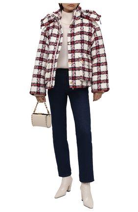 Женская куртка GUCCI красного цвета, арт. 663281/ZAGLK | Фото 2 (Материал подклада: Вискоза; Длина (верхняя одежда): Короткие; Материал внешний: Синтетический материал; Рукава: Длинные; Кросс-КТ: Куртка; Стили: Спорт-шик)
