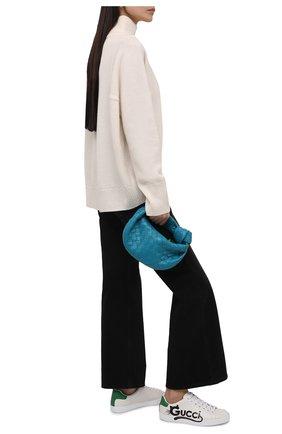 Женские кеды new ace GUCCI белого цвета, арт. 659912/2SH50 | Фото 2 (Материал внешний: Текстиль, Экокожа; Материал внутренний: Текстиль; Подошва: Платформа)