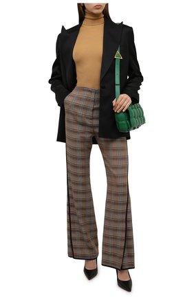 Женские брюки из вискозы NANUSHKA разноцветного цвета, арт. NW21FWPA01465 | Фото 2 (Материал внешний: Вискоза; Длина (брюки, джинсы): Стандартные; Женское Кросс-КТ: Брюки-одежда; Силуэт Ж (брюки и джинсы): Расклешенные; Стили: Кэжуэл)