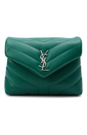 Женская сумка loulou toy SAINT LAURENT зеленого цвета, арт. 678401/DV706 | Фото 1 (Материал: Натуральная кожа; Сумки-технические: Сумки через плечо; Размер: mini; Ремень/цепочка: На ремешке)
