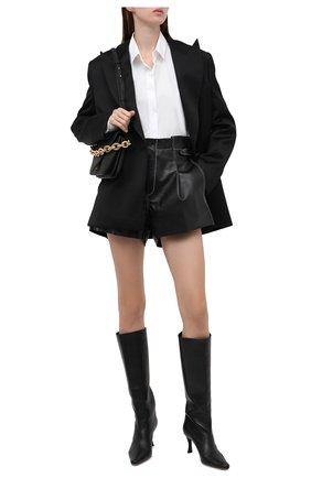 Женские кожаные шорты THE MANNEI черного цвета, арт. W21TM_SAKIB-SAKIB SH0RTS | Фото 2 (Женское Кросс-КТ: Шорты-одежда; Стили: Гламурный; Длина Ж (юбки, платья, шорты): Мини; Материал подклада: Вискоза)