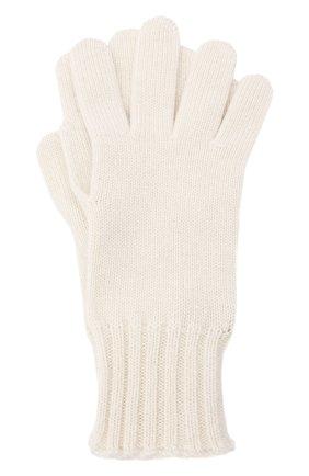 Женские кашемировые перчатки LORO PIANA кремвого цвета, арт. FAL9137 | Фото 1 (Материал: Кашемир, Шерсть)