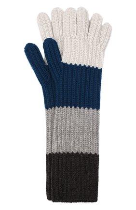Женские кашемировые перчатки LORO PIANA синего цвета, арт. FAL8961 | Фото 1 (Материал: Кашемир, Шерсть)