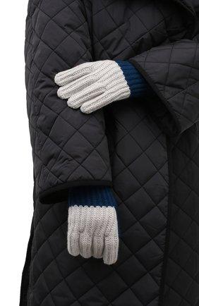 Женские кашемировые перчатки LORO PIANA синего цвета, арт. FAL8961 | Фото 2 (Материал: Кашемир, Шерсть)