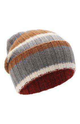 Женская кашемировая шапка LORO PIANA светло-серого цвета, арт. FAL6083 | Фото 1 (Материал: Шерсть, Кашемир)