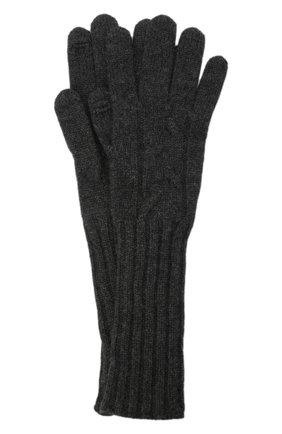 Женские кашемировые перчатки LORO PIANA темно-серого цвета, арт. FAI8570 | Фото 1 (Материал: Кашемир, Шерсть)