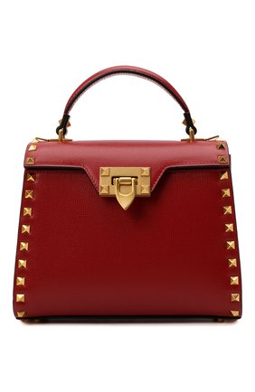 Женская сумка alcove small VALENTINO красного цвета, арт. WW0B0J71/WAX   Фото 1 (Материал: Натуральная кожа; Размер: small; Ремень/цепочка: На ремешке; Сумки-технические: Сумки top-handle)