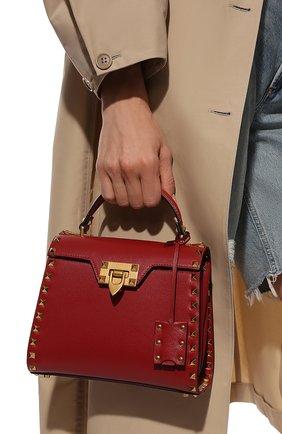 Женская сумка alcove small VALENTINO красного цвета, арт. WW0B0J71/WAX   Фото 2 (Материал: Натуральная кожа; Размер: small; Ремень/цепочка: На ремешке; Сумки-технические: Сумки top-handle)
